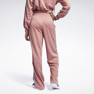 Women Classics Pink Reebok Classics Poly Taped Pants
