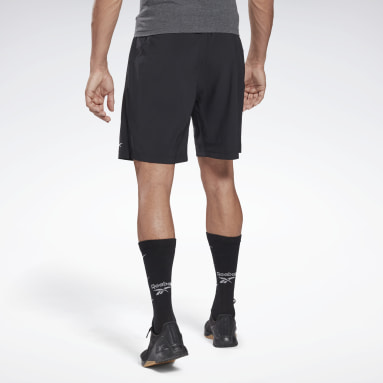 Men Cross Training Black Reebok Austin Solid Shorts