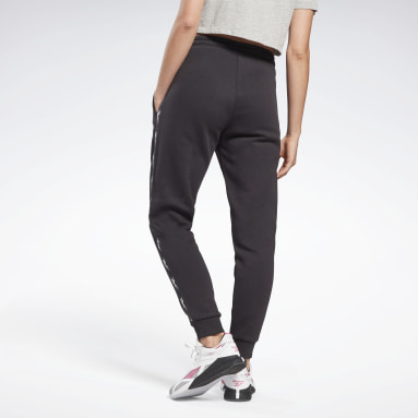 Dames Fitness & Training Zwart Tape Joggingbroek