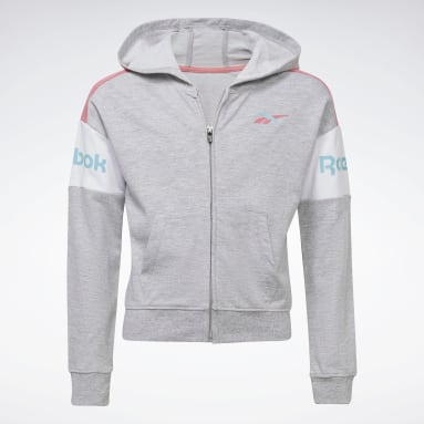 Mädchen Fitness & Training Two-Piece Reebok Classic Full-Zip Hoodie and Joggers Set Grau