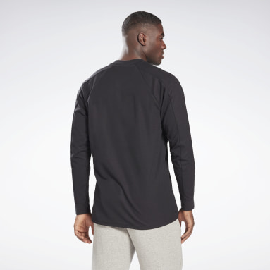 Men Fitness & Training Black Utility Long Sleeve T-Shirt