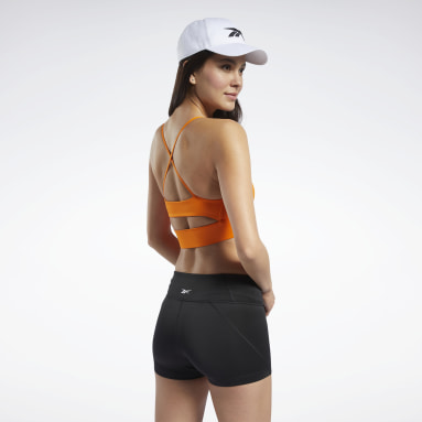 Top deportivo Workout Ready Tri - Bajo impacto Naranja Mujer Fitness & Training