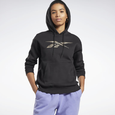 Women Fitness & Training Black Modern Safari Hoodie