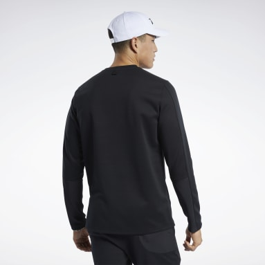 Mænd Fitness & Training Black Crew Sweatshirt