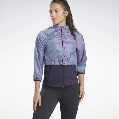 Frauen Running One Series Running Night Run Jacket Lila