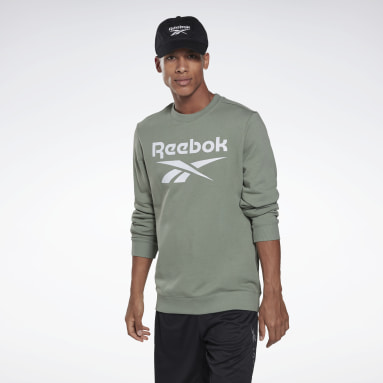 Men Fitness & Training Green Reebok Identity Big Logo Crew