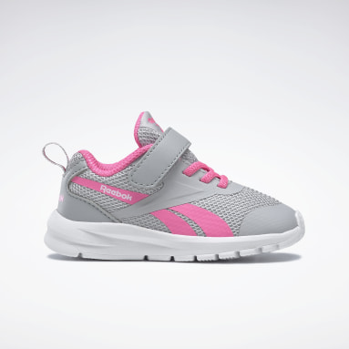 Girls Running Grey Reebok Rush Runner 3 TD Shoes - Toddler