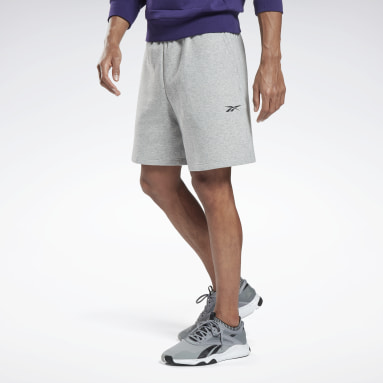Men Fitness & Training Grey DreamBlend Cotton Shorts