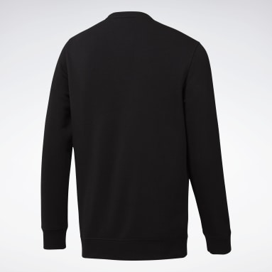 Men Fitness & Training Black Elements Crew Sweatshirt