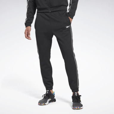 Men Training Black Workout Ready Doubleknit Pants