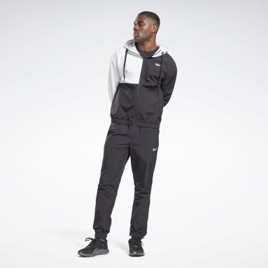 Men Fitness & Training Black Woven Tracksuit