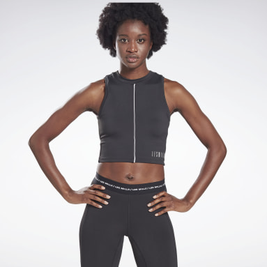 Women Studio Black LES MILLS® Performance Tank Top
