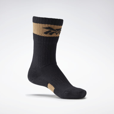 Women Classics Black VB Folded Socks