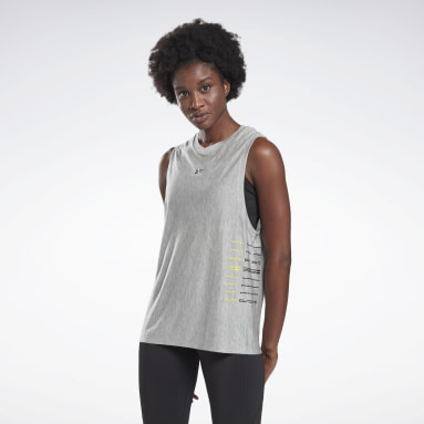 Women Studio Grey LES MILLS® Muscle Tank Top