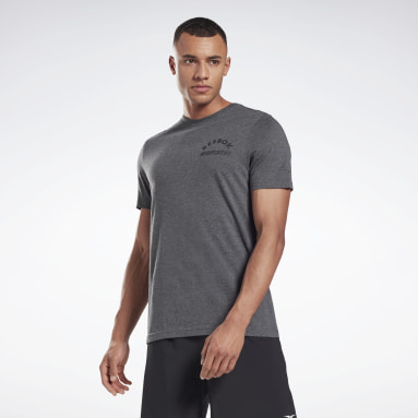 Camiseta Weightlifting Reebok Gris Hombre Cross Training