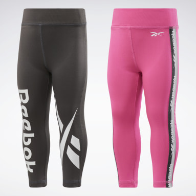 Girls Training 2-Pack Reebok Vector Tape Leggings