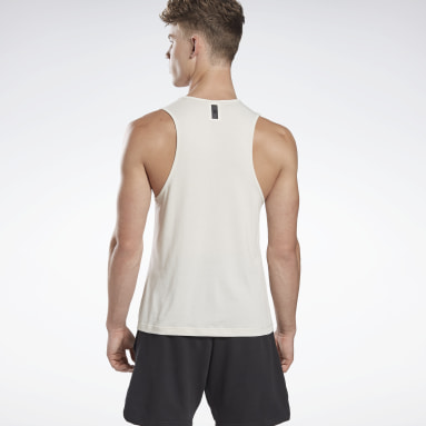 Men Studio White LES MILLS® ACTIVCHILL+COTTON Tank Top