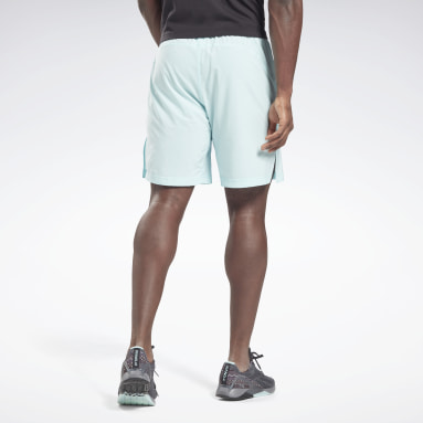 Men Training Blue Reebok Austin Solid Shorts