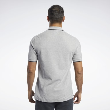Men Fitness & Training Grey Training Essentials Polo Shirt