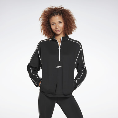 Jersey Workout Ready 1/2 Zip Negro Mujer City Outdoor