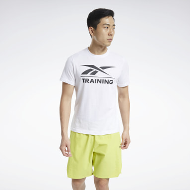 Men CrossFit White Reebok Specialized Training Tee