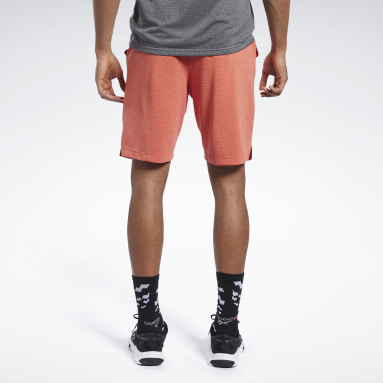 Men Hiking Red Workout Ready Performance Shorts