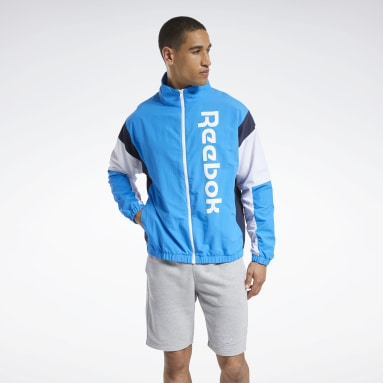 Men Fitness & Training Blue Training Essentials Linear Logo Jacket