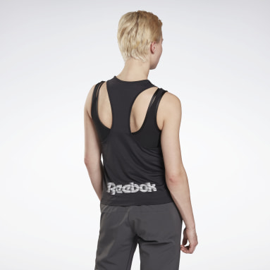 Women Running Black Run ACTIVCHILL Tank Top