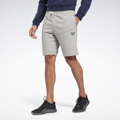 Men Casual Grey Reebok Identity Shorts