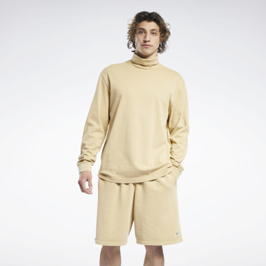 Men Classics Yellow Reebok Classics Natural Dye Long-Sleeve Top T-Long-Sleeve Top