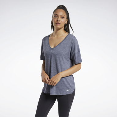 Women Training Blue ACTIVCHILL+COTTON Tee