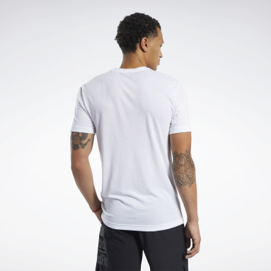 Men Fitness & Training White Reebok CrossFit® Read Tee