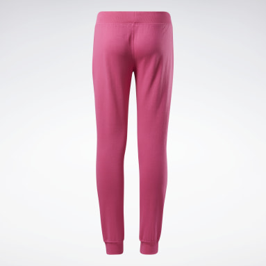 Girls Fitness & Training Pink Reebok Outline Jogger Pants