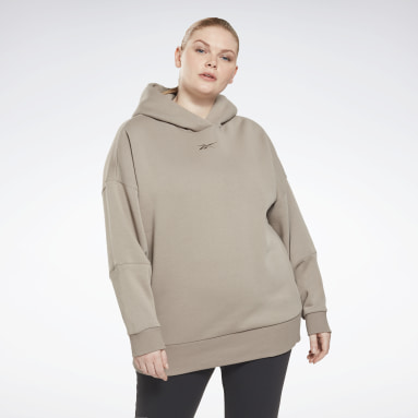 Women Studio Grey Retro Oversize Hoodie (Plus Size)