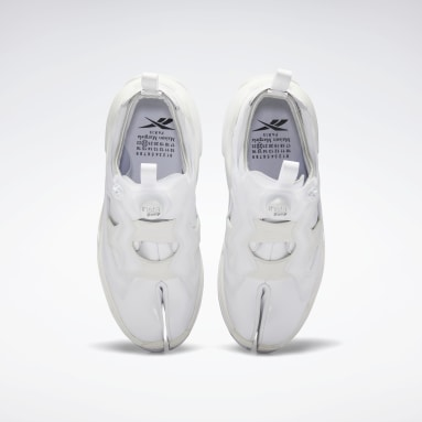 Classics White Maison Margiela Tabi Instapump Fury Oxford Shoes