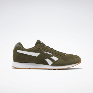 Men Classics Green Reebok Royal Glide Lux Shoes
