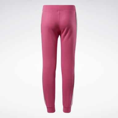 Meisjes Fitness & Training Roze Reebok Logo Joggingbroek