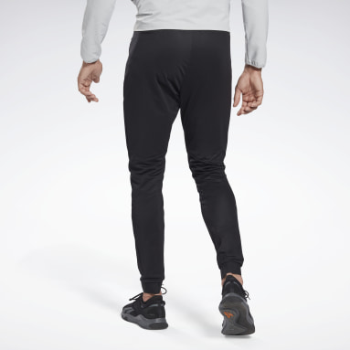 Men Training Black Knit Track Pants