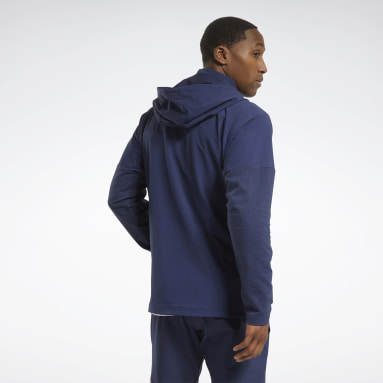 Men HIIT Blue United By Fitness Control Hooded Jacket