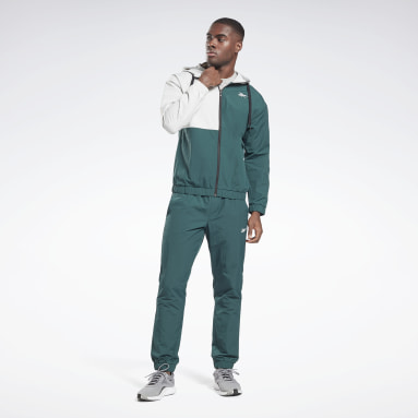 Men Fitness & Training Green Woven Track Suit