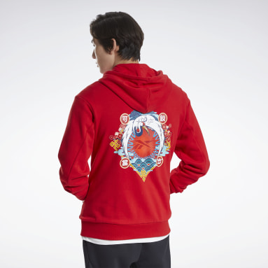Men Pilates Red Les Mills® CNY Graphic Hoodie