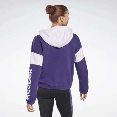 Felpa con cappuccio Linear Logo French Terry Zip Up Donna Fitness & Training