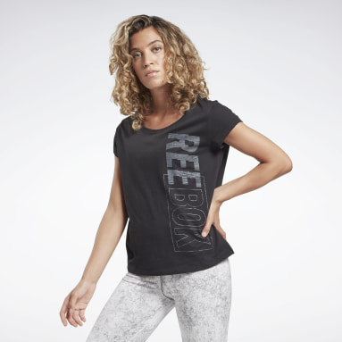 Women Yoga Black Restorative Studio Graphic Tee