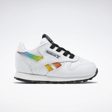 Kids Classics White Classic Leather Pride Shoes - Toddler
