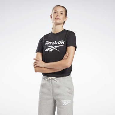 T-Shirt Reebok Identity Logo Nero Donna Fitness & Training
