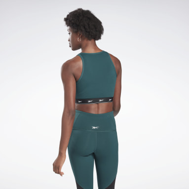 Women Cycling Green Beyond the Sweat Crop Top