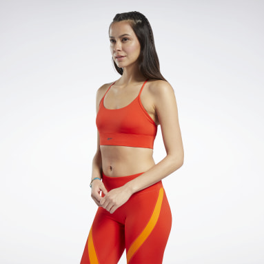 Women Training Red Workout Ready Low-Impact Tri Bra