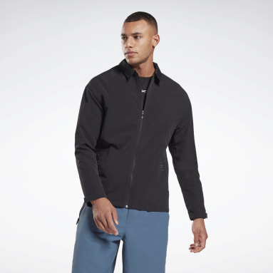 Men Hiking Black Utility Track Top
