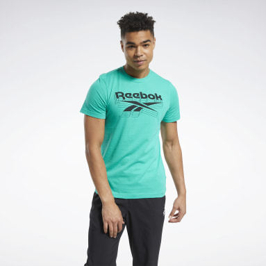 Men Training Turquoise Graphic Tee