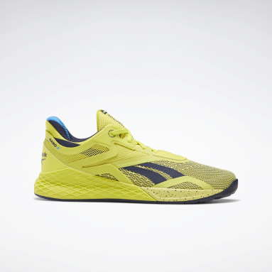Men Cross Training Yellow Reebok Nano X Shoes